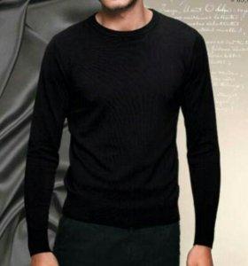 Пуловер черный муж.(новый) большой размер(64-66 )