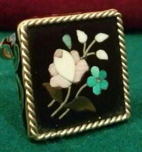 Кольцо серебро875 мазайка Petra Dura