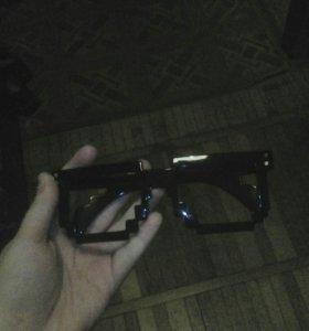 Пиксельные очки без стекол