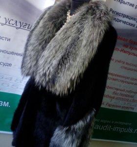 Шуба норка/чернобурка