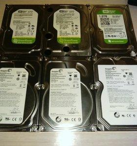 Жесткие диски 1-2tb