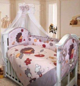 Матрас+набор в кроватку