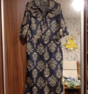 48 XL хлопок платье
