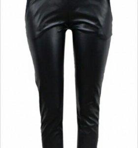 Новые брюки экокожа