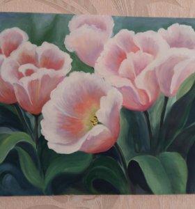 Картина. Тюльпаны
