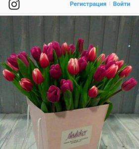 Тюльпан в коробке
