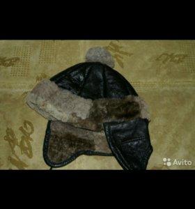 Зимняя натуральная шапка