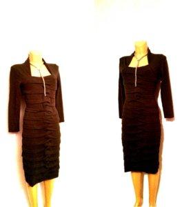 Платье объемное черное