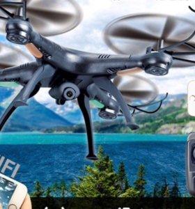 Квадрокоптер с камерой новый Syma x5sw-1