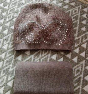 Комплект(шапка+ шарф)