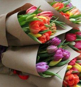 Букеты тюльпанов к 8 марта!!!