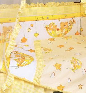 Бортики в кроватку Мама шила - Мишки в гамачке