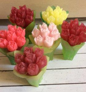 Ещё один букет весны- 💐 тюльпаны