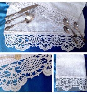Полотенце с ажурной каймой