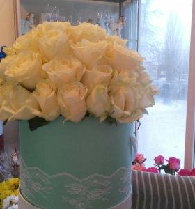Шляпные коробочки с розами