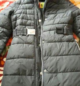 Пальто пуховик 140-146