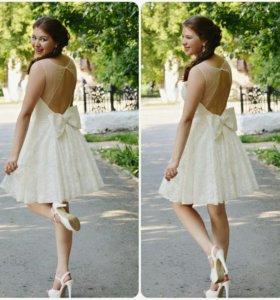 Платье на прокат + туфли (размер 37-38)