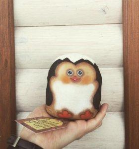 Пингвин малыш кофейный