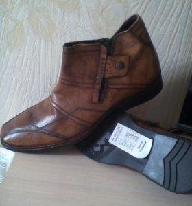Новые ботинки осень,кожа.  Пр.Дания