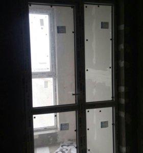 Балконный оконный блок Rehau