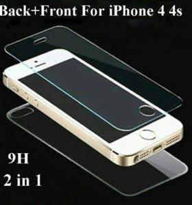 Стекла на lPhone 4-4s, 5, 6