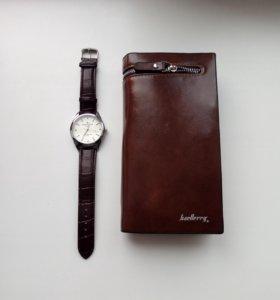 Портмоне baellerry + часы Patek Phlippe