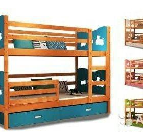 Новая детская двухъярусная кровать +матрас +ящик