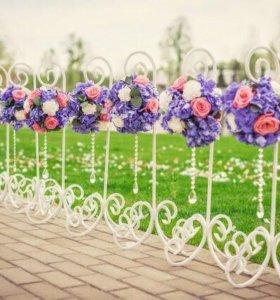 Свадебные подставки для цветов