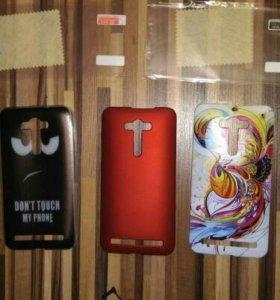 Бамперы и стекло на asus ZenFone 2 (ZE550ML)