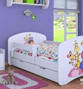 Новая детская кровать160Х80+ ящик+ матрас