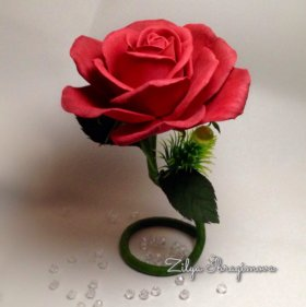 Роза на ножке, цветок-статуэтка