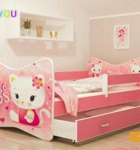 Новая детская кроватка с ящиком и матрасом 140\70