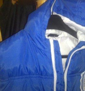 Теплая Куртка-бомбер на мальчика-подростка