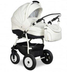 Новая коляска slaro indigo 3в1 экокожа+подарок