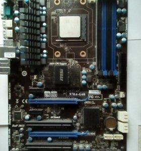 Мат.плата Msi 970A-G46 с процессоромfx8320 и озу