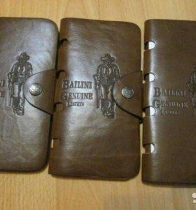 Мужской кожаный кошелёк-портмоне Bailiny Ковбой