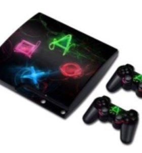 Виниловая наклейка на Sony Playstation 3 SuperSlim