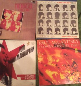 Битлз и Пол МакКартни. 4 виниловые пластинки.