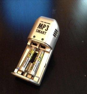 Мизинчиковые аккумуляторы и 2 зарядных устройства