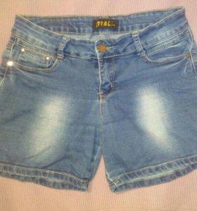 Летние джинсовые шорты.
