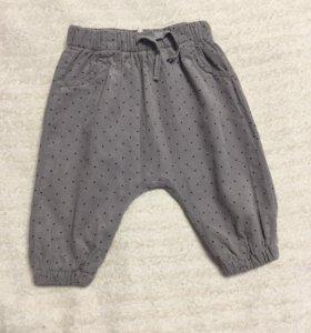 Вельветовые штаны h&m 68 размер