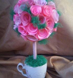 Подарки топиарии цветы