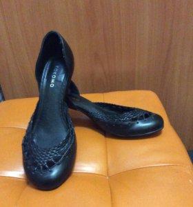 Туфли на маленьком удобном каблуке