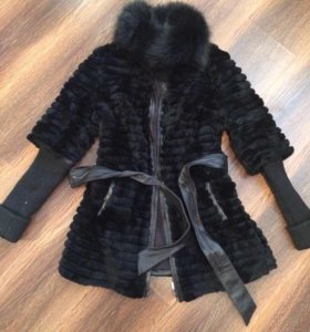 Куртка шуба кролик (воротник песец)
