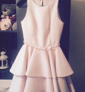 Выпускное Платье розовое короткое