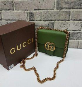 Сумка Gucci, нат кожа, в коробке