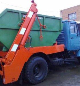 Вывоз мусора контейнерами 8м3