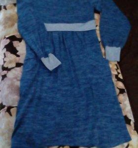 Платье синее р.50