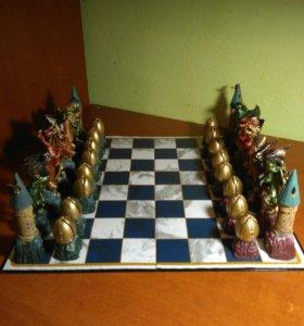 Шахматы Гарри Поттер фигурки драконов