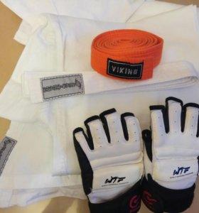 Кимоно 44-46 рост 170+перчатки+пояс